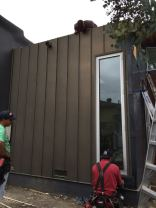 fascia cover standing seam vertical siding custom box leader heads and downspouts bonderized material 24 gauge Santa Monica 90405(19)