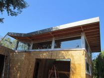 fascia cover standing seam vertical siding custom box leader heads and downspouts bonderized material 24 gauge Santa Monica 90405(21)