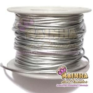 Fio de Couro (Courinho) Prata 2mm