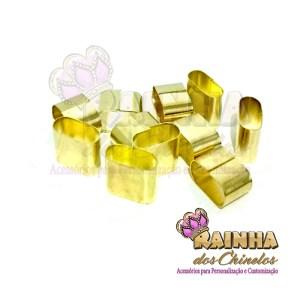 Terminal de Amassar Dourado 15mm