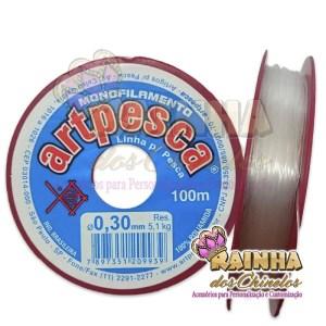 Fio de Nylon Linha de Pesca 0,30mm