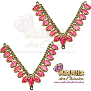 Cabedal ABS Oval Rosa