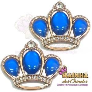 Piercing Coroa Chaton Azul Royal