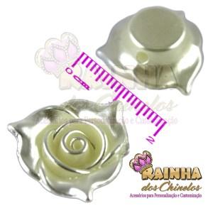 Florzinha ABS 3 Pétalas Creme