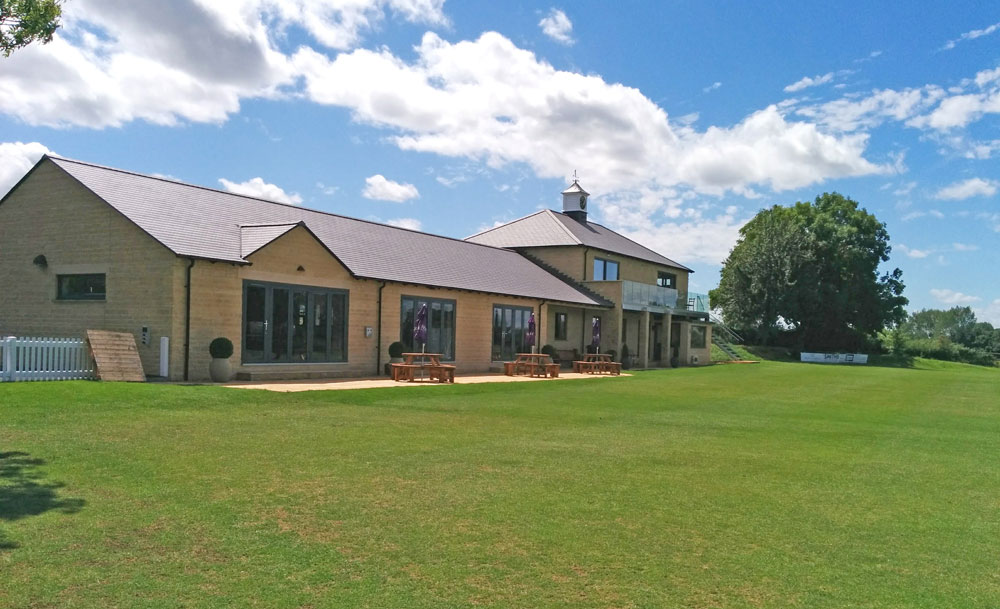 New clubhouse at cricket club in Gloucestershire