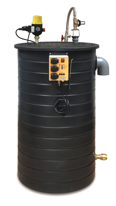 Picture of Maxima rainwater harvesting unit.
