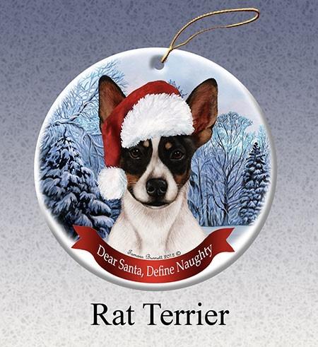 Raining Cats And Dogs Rat Terrier Dear Santa Dog