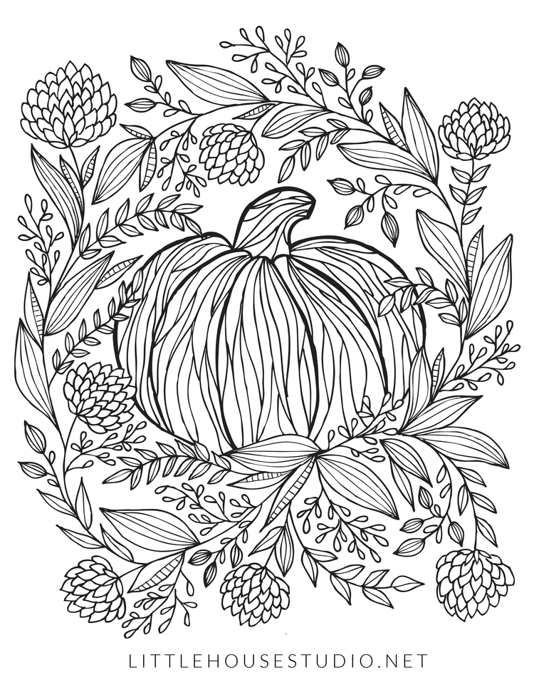 10 Free Autumn Adult Coloring Pages Raining Crafts Dogs