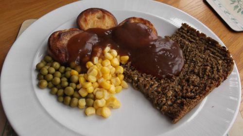 vegetarian roast meal