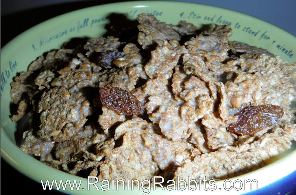 bran flakes and sultanas