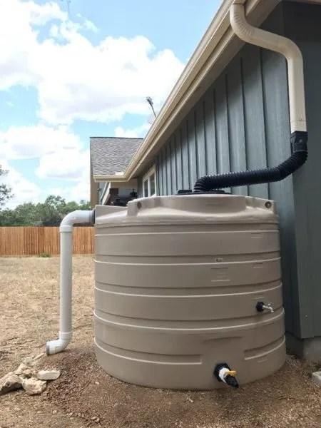 500 gallon non-potable rain collection tank