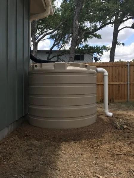 500 gallon poly tank - side view