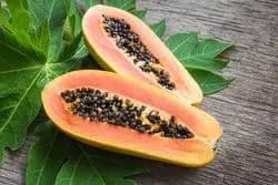 papaya best for acne