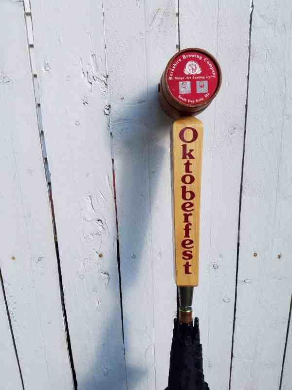 Berkshire Brewing Company beer tap umbrella