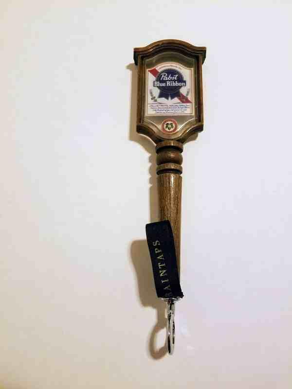 vintage pbr tap handle bottle opener mock wood
