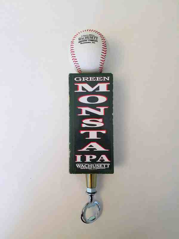 Wachusett Green Monsta custom tap handle bottle opener (wooden)