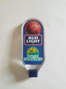 Bud Light Tap Handle for the Seattle Super Sonics