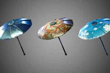 Umbrellas that you can find in Fortnite
