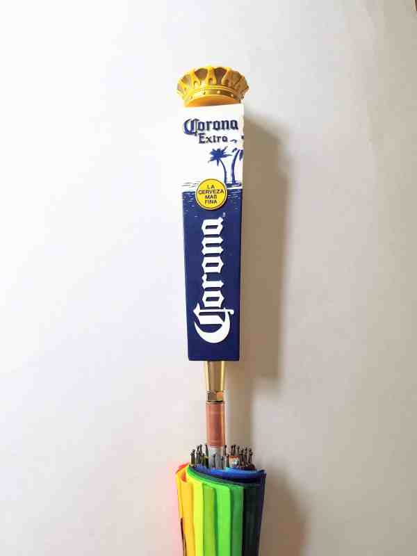 Corona Brewery Umbrella with triangular tap with crown