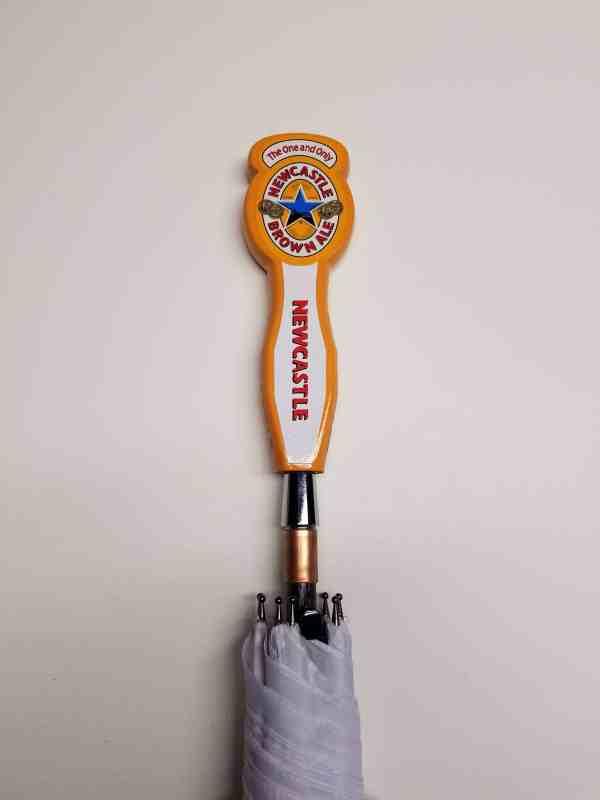 Small Newcastle Brown Ale Beer Tap Handle Umbrella Mini/Wedding Version
