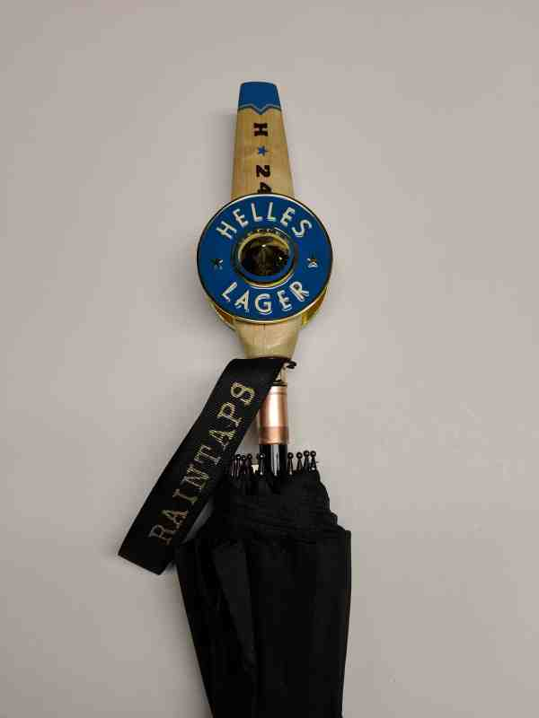 Hangar 24 Tap Handle Umbrella from RainTaps with Short Helles Tap