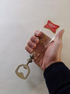 Miller High Life Bottle Opener - Vintage Lucite Beer Tap Handle