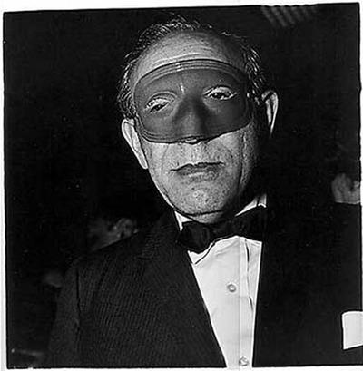 Masked Man at a ball N.Y.C.