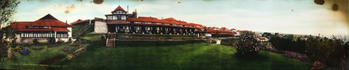 Welsh Mission Hospital now called H Gordon Roberts Hospital, Shillong. A panoramic image prepared by the mission to raise funds for the hospital in 1939