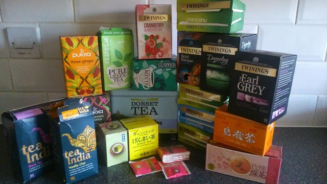 photo of many different types of tea.