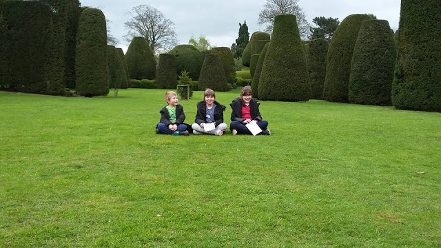 The kids in the Yew Tree Garden