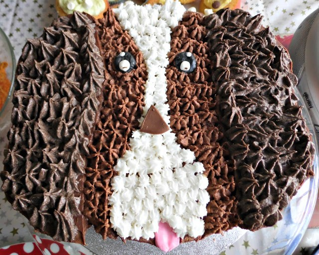 chocolate dog cake