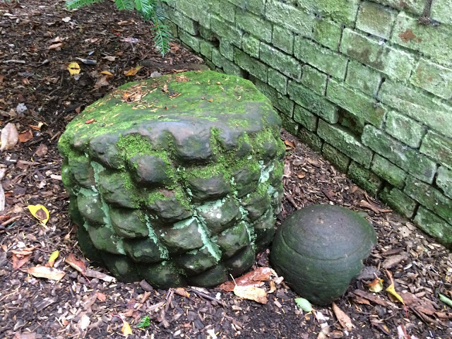 two stones from Hanbury hall which look like they have been carved