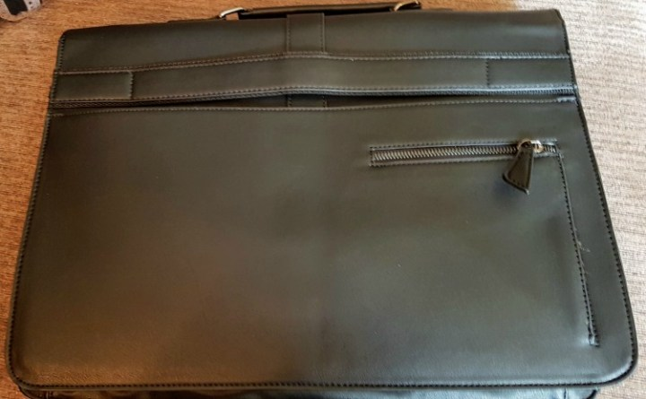 Back view of the briefcase