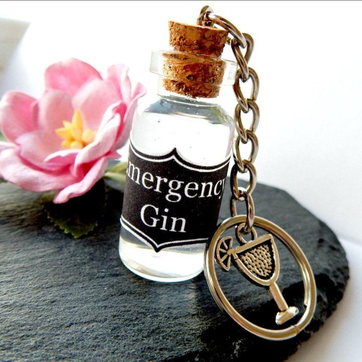 emergency gin keyring