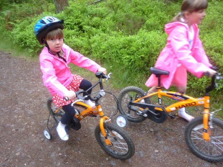 happier times the girls and their bikes