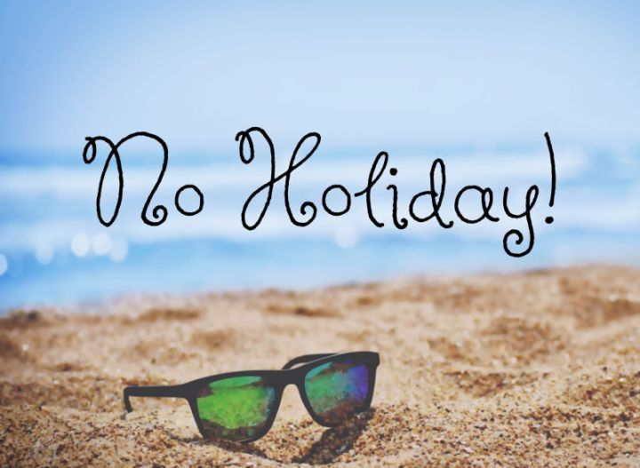 no holiday, a beach with sunglasses