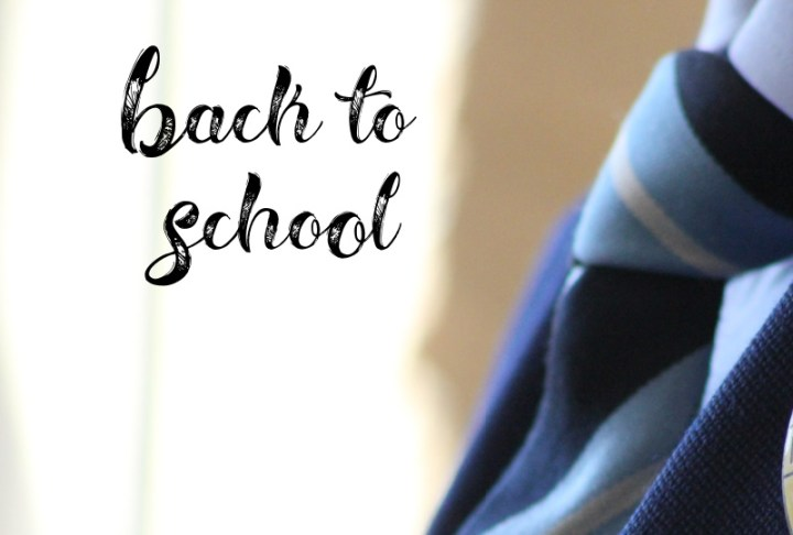 back to school with an image of a school tie