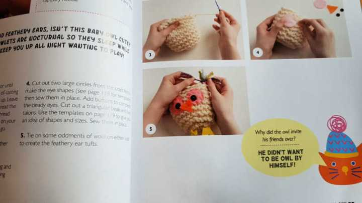 Kids knit owl instructions