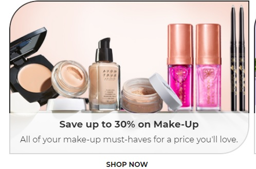 save 30% on make up products