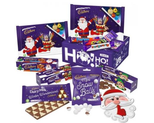 box of chocolate treats from cadburys