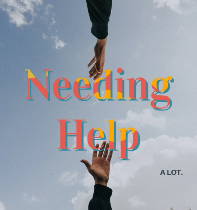needing help, two hands reaching out to each other.