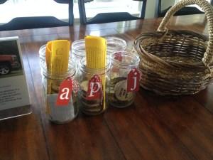 load jars and basket