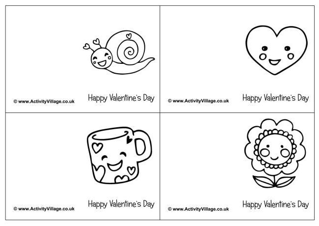 small_valentine_colouring_cards free printable
