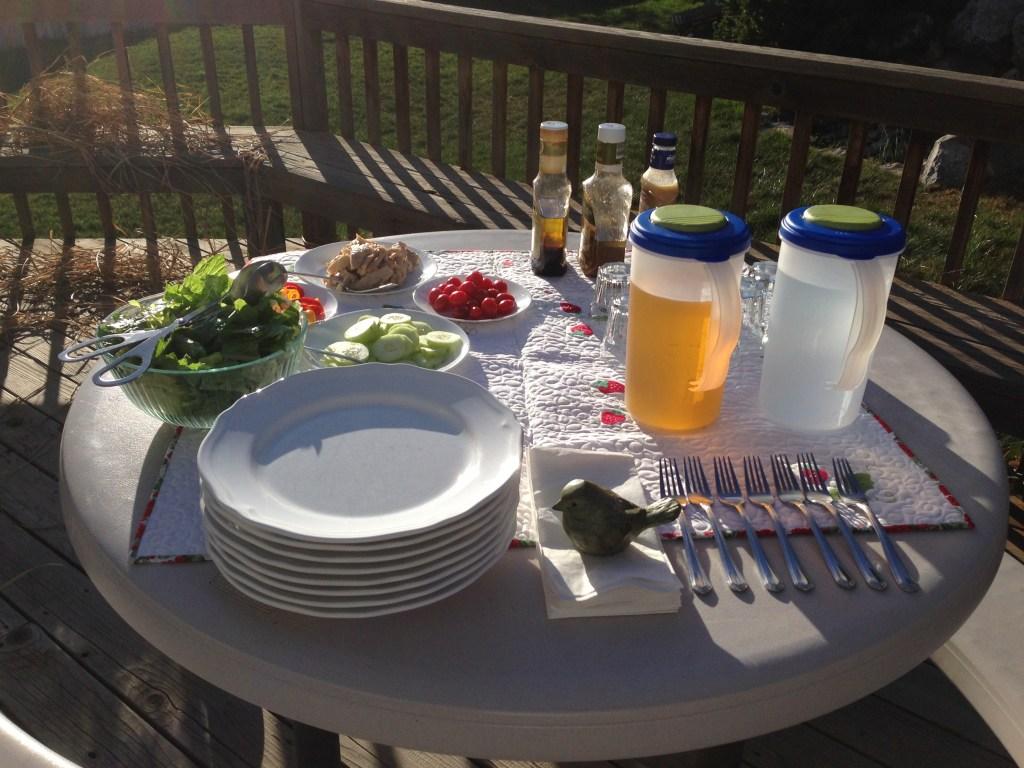 PIcnic salad dinner