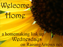 Frugal Ideas {Welcome Home Wednesday Homemaking Link Up on Raising Arrows}