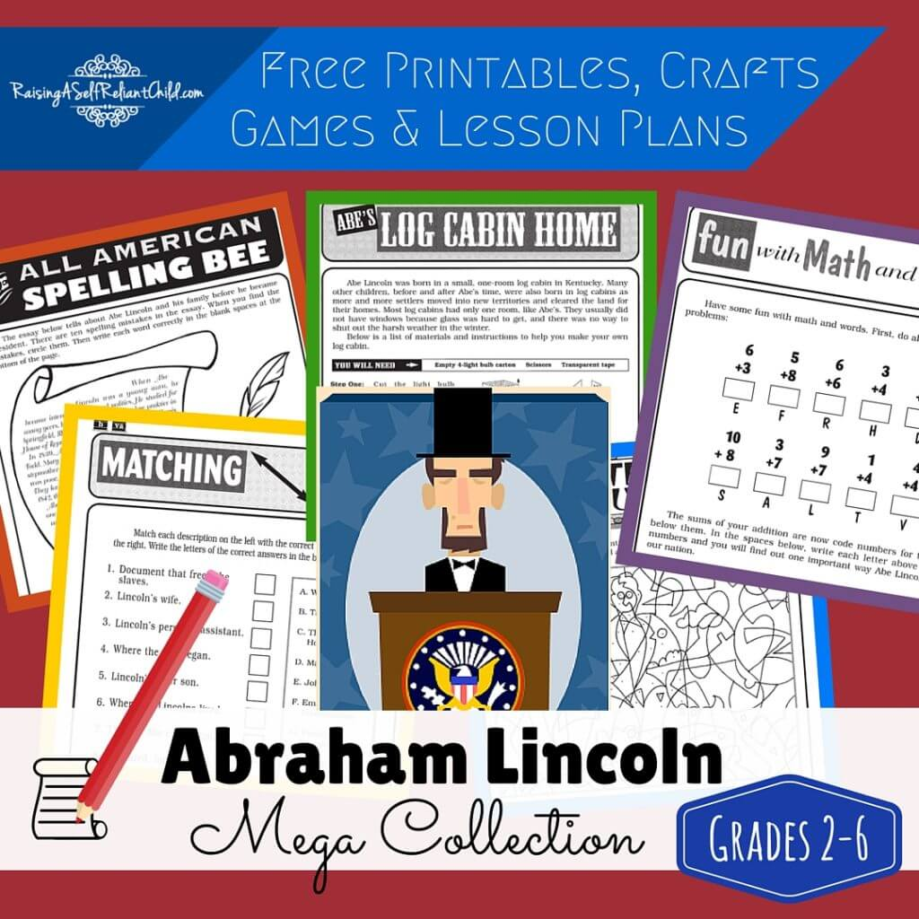 Free Printables Abraham Lincoln Homeschool History Lessons