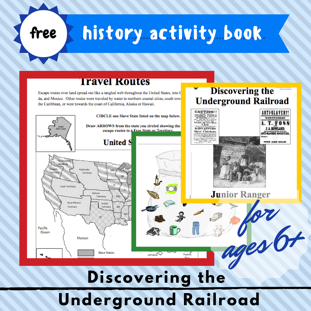 Discovering The Underground Railroad Free Activity Book Homeschool