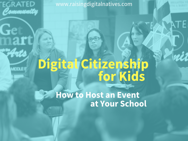 Digital citizenship for kids is a community effort. Planning an event at your school is a great way to bring people together to learn from one another. Here's are the considerations and tips for running a successful event at your school: https://www.raisingdigitalnatives.com/digital-citizenship-for-kids-event