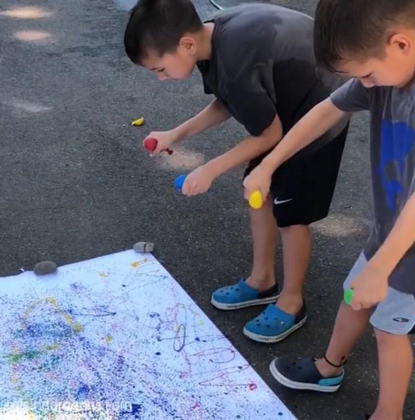Balloon Splatter Painting Kids Activity