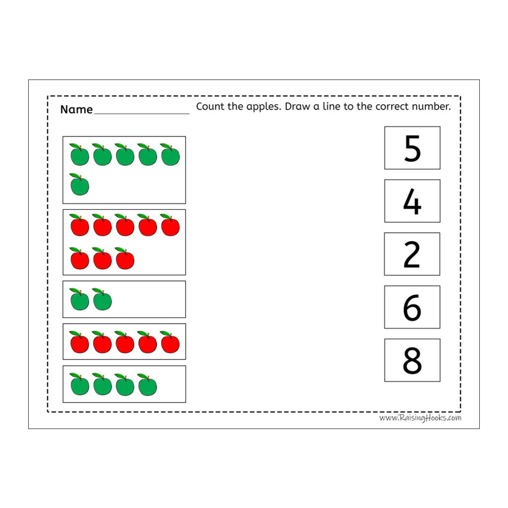 Apple Counting Line To Number